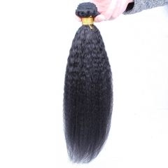 Kinky Straight 1 pcs Bundle Brazalian Virgin Hair Straight Hair Extension Human Hair
