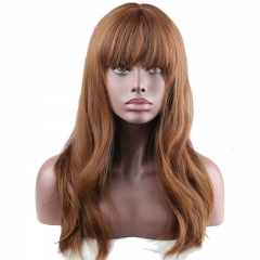 Eseewigs Maroon Wig Free Part Synthetic Silk Long Natural Straight Wig For Women Heat Resistant Fiber Hair 16~24inch