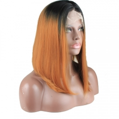 Natural Looking Lace Front Wig Short Bob Synthetic 1bt 30 Ombre Wigs Heat Resistant Fiber Hair
