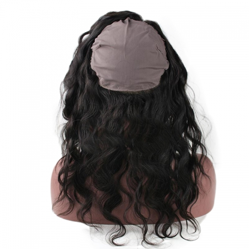 360 Lace Frontal Band with Cap Body Wave Brazilian Virgin Hair Lace Frontal Natural Hairline 22.5*4*2