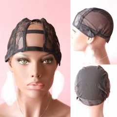 Top Grade U Part Wig Caps And Full Cap For Making Wigs Stretch Lace With Adjustable Straps Back Weave Cap Free Shipping