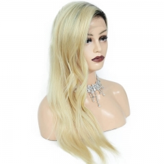 1B 613 Ombre Blonde Lace Front Wig Virgin Brazilian Two Tone Human Hair For Black Women