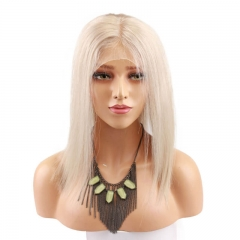 Custom Platinum Blonde Full Lace Wigs Human Hair Lace Front Wigs For Sale
