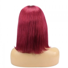 Burgundy Red Bob Cut Human Hair Wigs Buy Natural Hair For Women