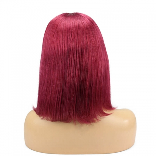 Burgundy Red Bob Cut Human Hair Cheap Wigs Buy Natural Hair For Women