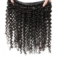 Cheap 100 Human Hair Bundles With 13X4 Deep Wave Lace Frontal Closure