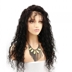 250 Percent High Density 13x6 Lace Front Wig Water Wave With Baby Hair Human Hair Wig