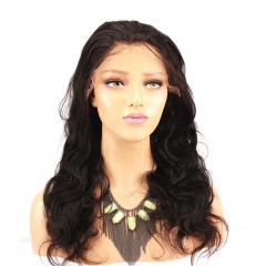 Brazilian Body Wave 180 High Density Deep Part Real Human Hair  Lace Front Wig