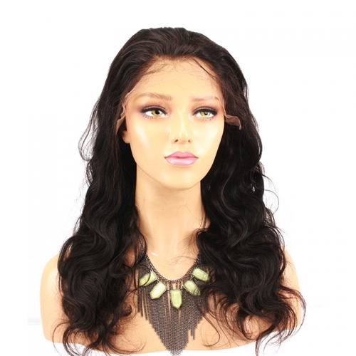 Brazilian Body Wave 250 High Density Deep Part Real Human Hair  Lace Front Wig