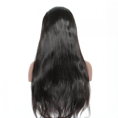 250 Percent High Density Human Hair Long Silky Straight 13x6 Lace Front Wigs Black Fast Shipping