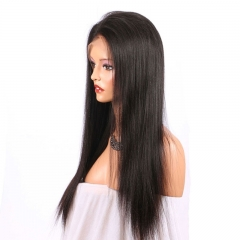 13x6 Lace Front Wig Thick Enough Light Italian  Yaki Straight 250 Density Wig Natural Hairline