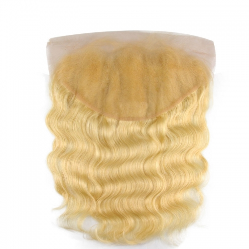 Body Wave 613 Blonde Ear to Ear 13x6 Swiss Lace Frontal Closure Pre Plucked