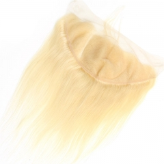 613# Blonde Weave 13x6 Lace Frontal Silky Straight Human Hair with Baby Hair