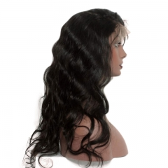 360 Circular Lace Wigs Body Wave Brazilian Human Hair Wigs Natural Hair Line 180% Density