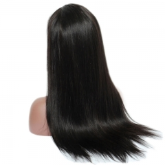 Full Lace Wig Human Hair Silky Straight With Baby Hair 180 Heavy Density Glueless Lace Front Wig