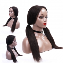 Custom Full Lace Wigs Light Yaki Full Lace Human Hair Wigs For Black Women With Baby Hair Bleached Knots Brazilian Remy Hair