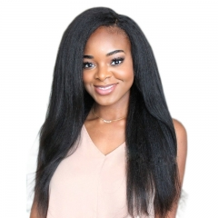 Affordable Full Lace Human Hair Wigs Kinky Straight Virgin Brazilian Human Hair with Baby Hair All Around