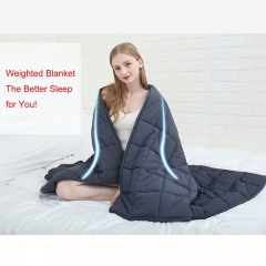 Weighted Blanket (60''x80'', 25lbs for 220-280lbs, Individual, Grey) 丨for Adults Women, Men | Premium Cotton with Glass Beads