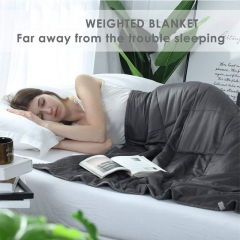 "Weighted Anxiety Blanket Soft Weighted Blanket 60""*80"" 25lbs Dark Grey for Adults Women, Men
