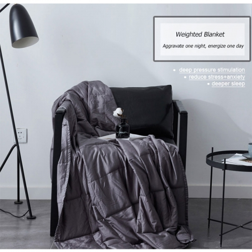 Weighted Blanket 100% Cotton Decompression Quilt Weighted Cover Relieving and Improving Sleep Gravity Blanket