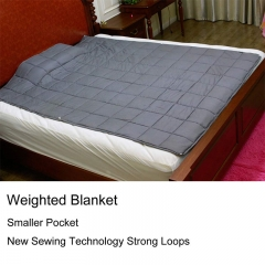 Weighted Blanket (25 lbs, 60''x80'', Queen Size) | 2.0 Heavy Blanket | 100% Cotton Material