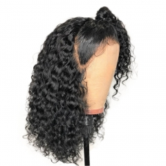 180 Density Glueless Full Lace Wigs Curly Pre Plucked Brazilian Remy Human Hair Wigs With Baby Hair Natural Hairline