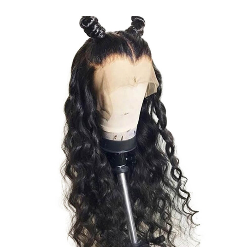 Deep Wave Human Hair 360 Lace Frontal Wig Brazilian Remy Glueless Full Lace Wigs for Women Pre Plucked Natural Hairline 180% Density