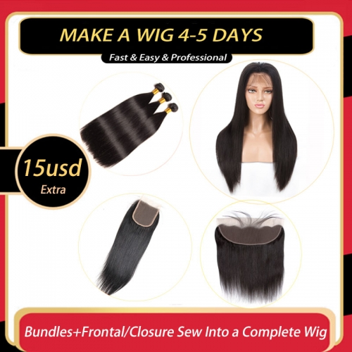 Complete Wig Sewing Service With 4-5 Days Customize 15$ Extra