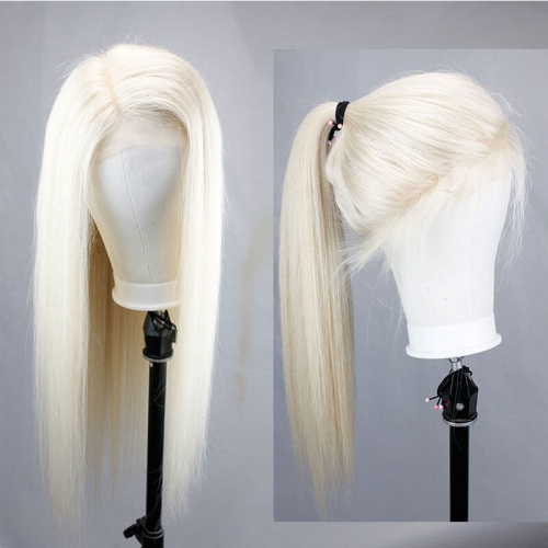 Silky Straight 613 Blonde Lace Front Wigs Pre Plucked Brazilian Remy Human Hair Wigs For Black Women Baby Hair Around