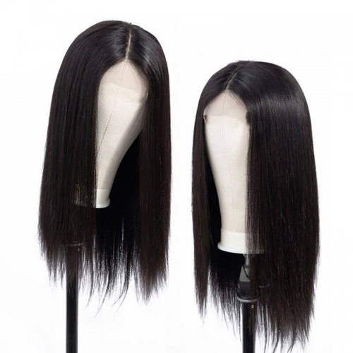 Silky Straight Lace Front Human Hair Wigs 180 Density Brazilian Remy Hair Glueless Swiss Lace Wigs for Black Women
