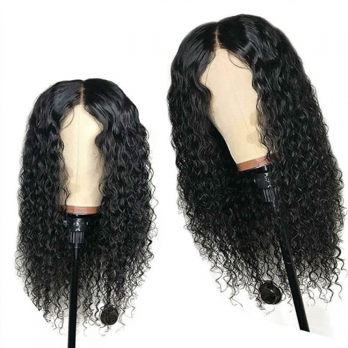 13x6 Deep Part Water Wave Lace Front Wig for Black Women Pre Plucked Black Brazilian Remy Human Hair Wig with Baby Hair