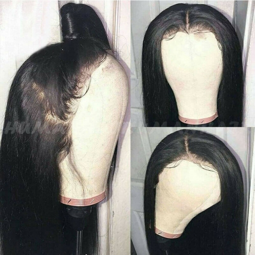 Lace Front Human Hair Wigs Pre Plucked Silky Straight Lace Front Wigs Brazilian Remy Hair for Women
