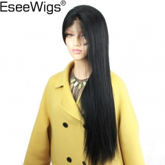 Eseewigs Full Lace Wigs Human Hair With Baby Hair Silk Base Lace Wigs Pre Plucked Natural Hair Line Silky Straight Remy Hair