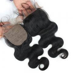Body Wave Silk Base Lace Closure Human Hair Brazilian Remy Hair Silk Top 4x4 Lace Closures With Baby Hair For Women Eseewigs