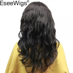 Eseewigs Pre Plucked Full Lace Human Hair Wigs	Brazilian Remy Natural Wavy Hair Glueless Wigs With Natural Baby Hair Around