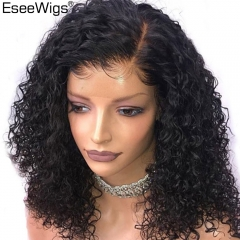 Eseewigs Short Human Hair Curly Wigs For Black Women 13x6 Lace Front Wig Brazilian Remy Hair Wigs Pre Plucked With Baby Hair