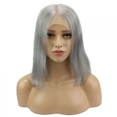 Deep Middle Part Human Hair Lace Front Wigs Grey 13x6 Glueless Human Hair Wigs For Women Baby Hair Brazilian Virgin Wig Eseewigs