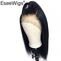 Eseewigs Silky Straight Wigs For Women 360 Lace Frontal Wig Pre Pluced With Natural Baby Hair Around Brazilian Remy Human Hair