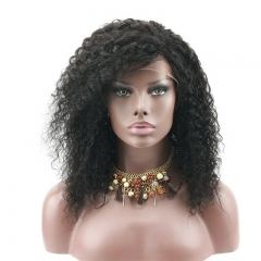 Eseewigs Afro Kinky Curly Human Hair Lace Front Wigs for African American Brazilian Remy Lace Wig Side Part Baby Hair Around