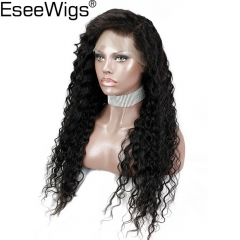 Eseewigs Preplucked Lace Wig 130 Density Remy Human Hair Deep Wave Glueless Full Lace Wigs With Natural Baby Hair For Women