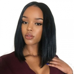 Eseewigs Short Bob Human Hair Full Lace Wigs Brazilian Remy Human Hair Bob Cut Glueless Lace Wigs for All Women Baby Hair Around