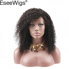 Eseewigs Lace Front Human Hair Wigs Glueless Short Wig Pre Plucked Hair Line Kinky Curly Brazilian Remy Human Hair For Women