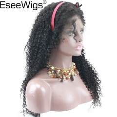 Eseewigs Silk Base Full Lace Human Hair Wig 4X4 Silk Base Size Glueless Lace Wig Pre Plucked Hair Line Curly Brazilian Remy Hair