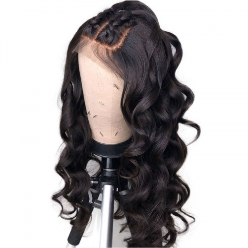 Lace Front Human Hair Wigs for Black Women Loose Wave Wigs with Baby Hair Deep Part Pre-Made Fake Scalp Full Lace Wig