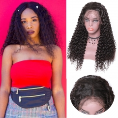 Jerry Curly Remy Wig 13*4 Lace Front Pre Pluck Human Hair Wigs 150% Density Wigs