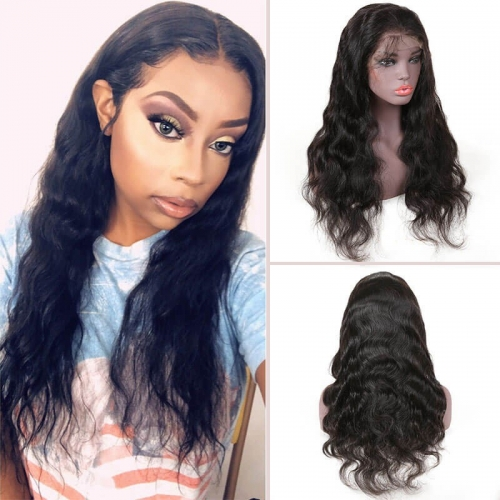 Lace Front Human Hair Wigs With Baby Hair 13*4 Long Body Wave Body Wave 130% Density Wigs