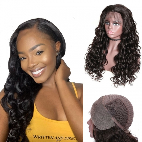 Mix Curly Wig Lace Front Human Hair Pre Pluck Wigs With Baby Hair 180% Density Long Wigs