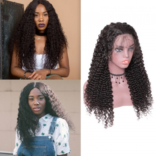 Jerry Curly Baby Hair Remy Wig 13*4 Lace Front Human Hair Wigs 180% Density Wigs