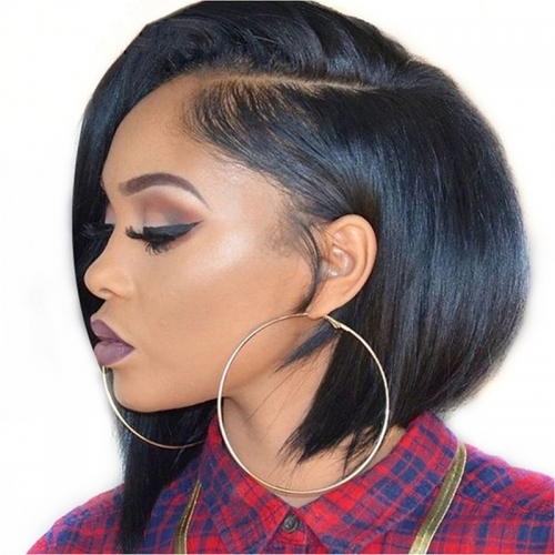 Short Bob Wigs High Quality lace Front Human Hair Wigs For Black Women African American Lace Wigs Sale Natural Hairline