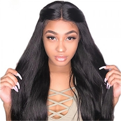 Best Human Hair Wigs Online Full Lace Front Wig Brazilian Hair Straight Wig 130% 150% 180% Density
